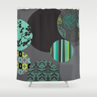 oriental Shower Curtains featuring Oriental by thickblackoutline