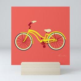 Cruiser Bike: Papaya Lemon Mini Art Print