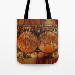 Rustic Old World Map Tote Bag