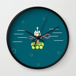 Underwater roboracoon Wall Clock