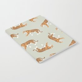 Tiger Trendy Flat Graphic Design Notebook