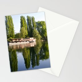 The Old Barge at Auvers Stationery Cards
