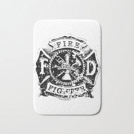 Fire Fighter Badge Bath Mat