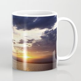 日没 // Sunset on Enoshima Beach with Mount Fuji Coffee Mug