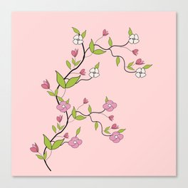 Branch of flowers Canvas Print