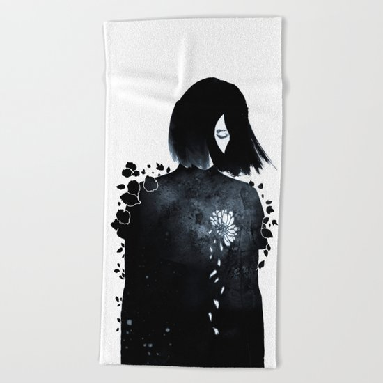 running out of patience Beach Towel