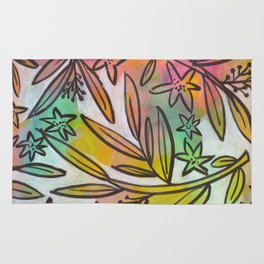 Bright Colorful Jungle Canopy Rug
