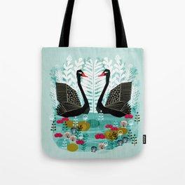 Swans by Andrea Lauren Tote Bag