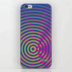 SoundWaves Lime/Magenta iPhone & iPod Skin