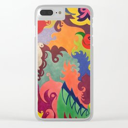 Whirl of Color Clear iPhone Case