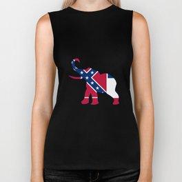 Mississippi Republican Elephant Flag Biker Tank
