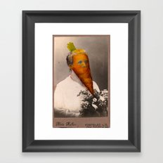Cabinet Photo repainted - Carrot Head Framed Art Print