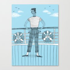 Sailor on deck Canvas Print