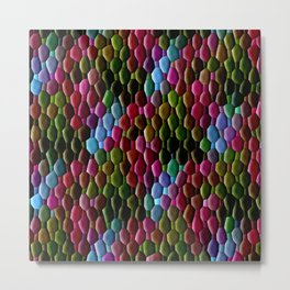 Colored Cobblestones... Metal Print