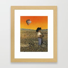 Collecting Turtles in a Free World Framed Art Print