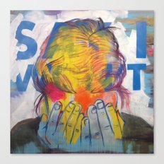 The 'Say I Won't' Mask Canvas Print