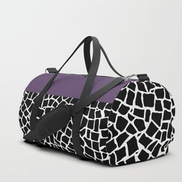 British Mosaic Purple Boarder Duffle Bag