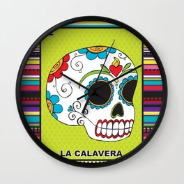 La Calavera Wall Clock