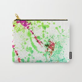 Screamin' Green - Abstract Splatter Style Carry-All Pouch