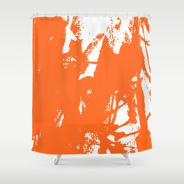 Orange Ink Shower Curtain