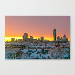 Moments Before Darkness in Boston's South End Canvas Print