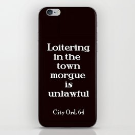 City Ord.  64 iPhone Skin