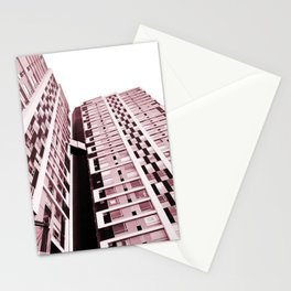 Burgundy Building Stationery Cards