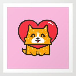 Dog Heart Art Print