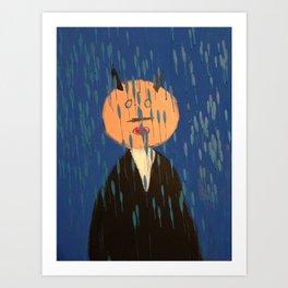 Devil in the Rain... Art Print
