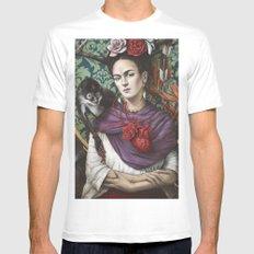 Frida kahlo Mens Fitted Tee MEDIUM White