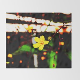 Autumn Flowers Throw Blanket