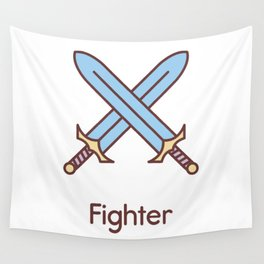 Cute Dungeons and Dragons Fighter class Wall Tapestry