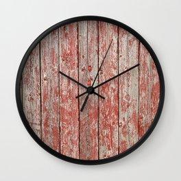 Rustic red wood Wall Clock