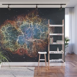 Crab Nebula in constellation Taurus. Supernova Core pulsar neutron star. Wall Mural