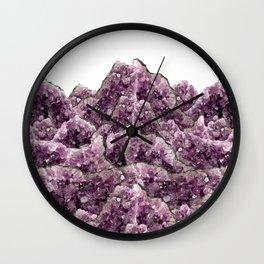 Amethyst Landscape - Gemstone - Geodes Crystals Wall Clock