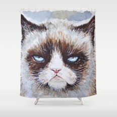 Tard the cat Shower Curtain