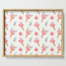 Floral Cones Pattern Serving Tray