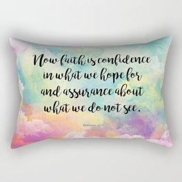 Faith Bible Quote, Hebrews 11:1 Rectangular Pillow