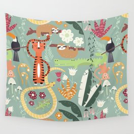 Rain forest animals 001 Wall Tapestry