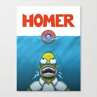 homer Canvas Prints featuring HOMER by BC Arts