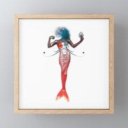Off Her Element Framed Mini Art Print