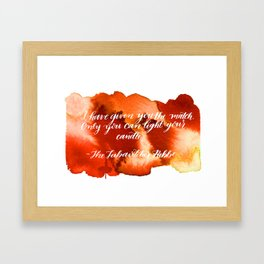 Rebbe Chanukah Quote Framed Art Print