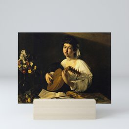 "Michelangelo Merisi da Caravaggio ""The Lute Player"" Mini Art Print"
