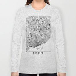 Toronto White Map Long Sleeve T-shirt