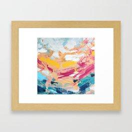 bursting brightly Framed Art Print