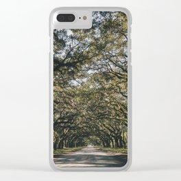 Wormsloe Live Oak Avenue - Savannah II Clear iPhone Case