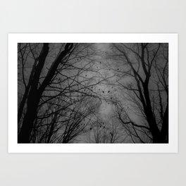 Tree of black Art Print