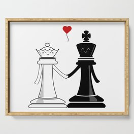 Chess love #3 Serving Tray
