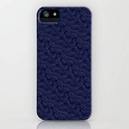 Muted '90s Fern Background Grid at Dusk – Deep Blue iPhone Case