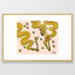 girl gang // dogtown and z girls // skateboard girl power by surfy birdy Framed Art Print